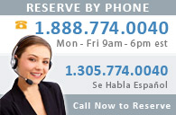 Call 1 (888) 774 0040 to Reserve!